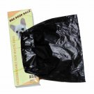 2000 Dog Pet Waste Poop Bags 8 Rolls Strong .75 mil 19 mcrns easy separate blk
