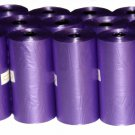 DOG PET WASTE POOP BAGS BLACK BLUE PURPLE UNSCENTED REFILL ROLLS