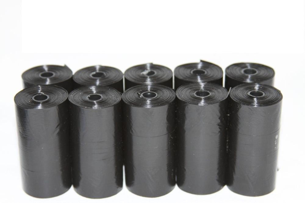 700 DOG PET WASTE POOP BAGS 35 REFILL ROLLS W/DISPENSER BLACK