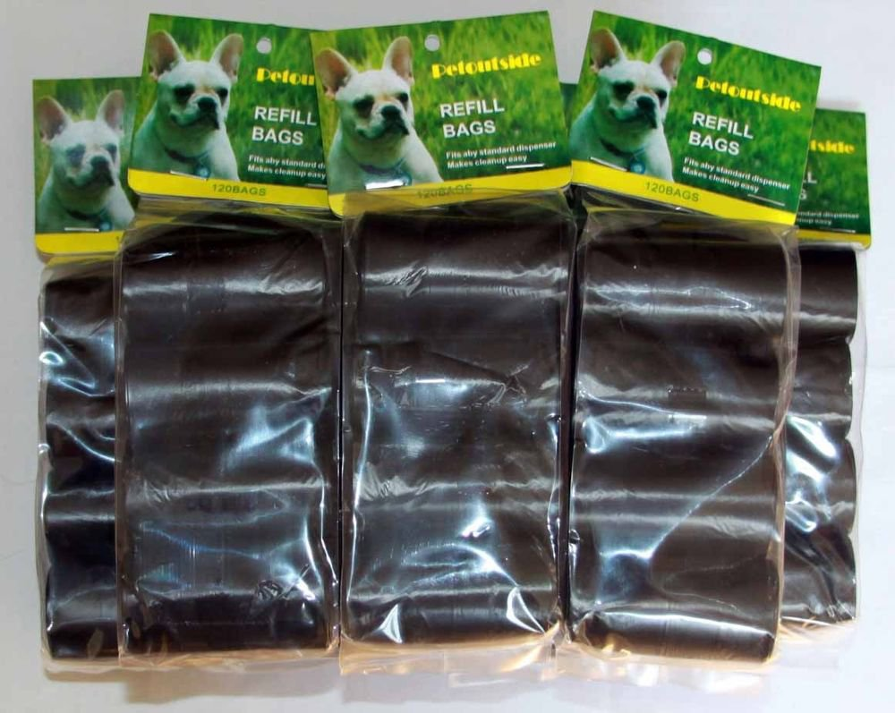 1200 DOG PET WASTE POOP BAGS REFILL 80 ROLLS WITH CORE