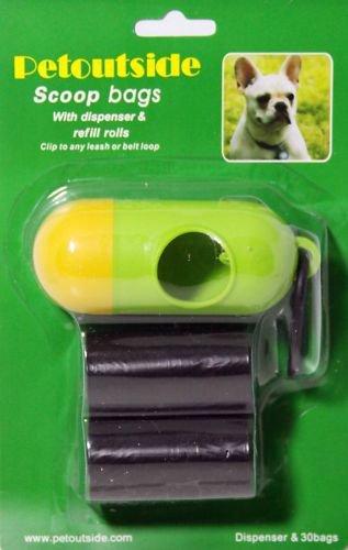 DOG PET WASTE POOP DISPENSER 30 REFILL BAGS