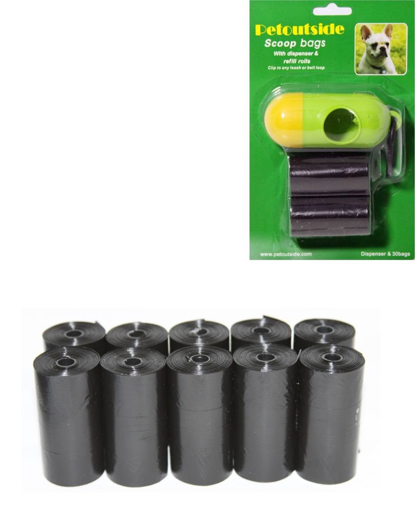 3030 DOG PET WASTE POOP BAGS REFILL ROLLS FREE DISPENSER 15 bags/roll