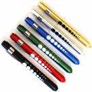 6 Professional Medical Diagnostic Penlights With Pupil Gauge w/Batteries