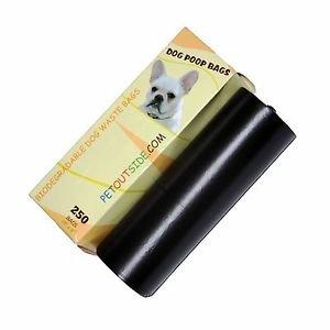 2500 Dog Pet Waste Poop Bags 10 Rolls Strong .75 mil 19 mcn easy separate blk