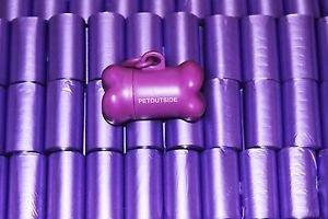 6000 DOG PET WASTE POOP BAGS 400 PURPLE REFILL rolls 15 bags/ROLL Petoutside USA