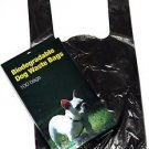 500 DOG PET WASTE POOP BAGS WITH HANDLES Black by Petoutside Made In USA