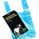 500 DOG PET WASTE POOP BAGS WITH HANDLES Blue by Petoutside Made In USA