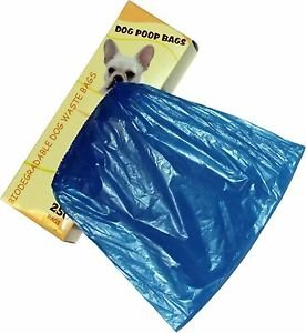 500 Dog Pet Waste Poop Bags 2 Rolls Strong .75 mil 19 mcs easy separate blue