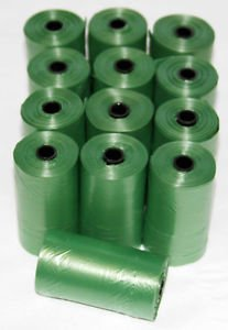 3000 DOG PET WASTE POOP BAGS 150 GREEN REFILL ROLLS WITH CORE Petoutside USA