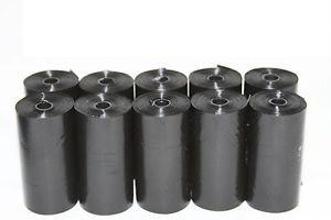 1350 DOG PET WASTE POOP BAGS 90 REFILL ROLLS WITH CORE BLACK Petoutside USA