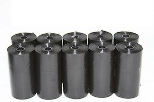 700 DOG PET WASTE POOP BAGS 35 REFILL ROLLS W/DISPENSER BLACK Petoutside USA