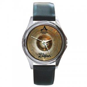 Zildjian A 13inch Custom Hi-Hat Cymbal Pictures Round Metal Watch