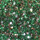 1000 Crystal Flat Back Acrylic Rhinestones Gems 2mm Peacock Green