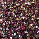1000 Crystal Flat Back Acrylic Rhinestones Gems 2mm Dark Rose