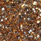 1000 Crystal Flat Back Acrylic Rhinestones Gems 3mm Gold
