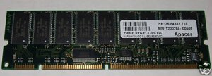 PC133 Apacer 256MB Registered ECC SDRAM Memory