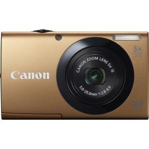 Canon PowerShot A3400 IS 16 Megapixel Compact Camera - Gold