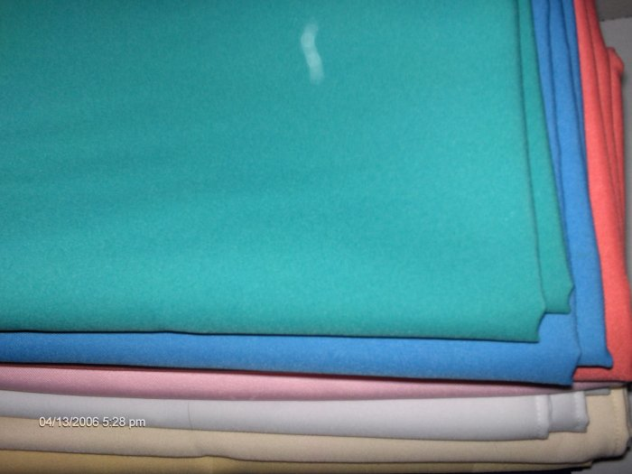 TABLE LINEN  RESTAURANT LINEN    TABLECLOTH 62 X 44   TEAL