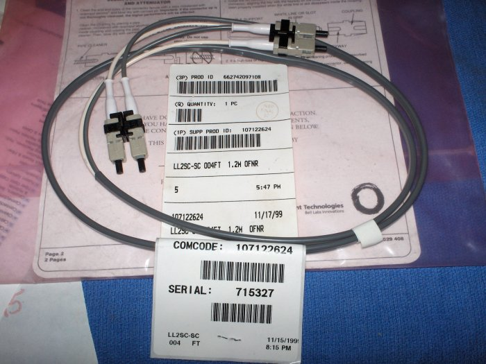 fiber optic patch cable  LL2SC-SC OO4FT 1.2 M NEW  4 optical cable
