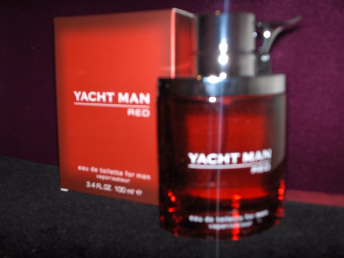 YACHT MAN  RED MEN COLOGNE 3.4 OZ  100 ML  MYRURGLA