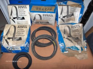 volvo penta  drive belt  958485 servo pump AQ225D