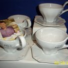 mikasa tea & coffee cup & saucer set  tyler florence chef`s white style