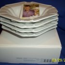 mikasa tyler florence soup bowl  4pc set  new boxed baroque pattern