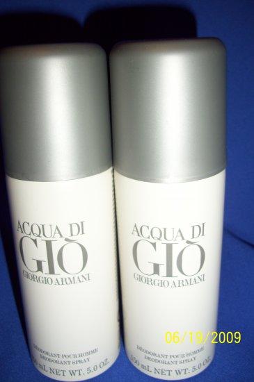 ACQUA DI GIO  GIORGIO ARMANI 3.4 oz Deodorant Spray