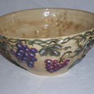 "NOBLE EXCELLENCE MERITAGE LARGE SERVING BOWL TUSCAN GRAPES 11 3/4"" D X 5 1/2"" H"