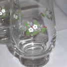 "3 PFALTZGRAFF HEIRLOOM CHRISTMAS clear glass tumblers 5 1/2"" H x 3"" W EXCELLENT"