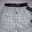 papi men`s boxer shorts 100 % cotton green white blue plaid boxer sleepware men