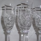 "4 Mikasa  Chateu Clear Crystal Tall  Champagne  Glass 8 1/2"" Tall Excellent"