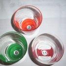 Glass Tumblers Double Rocks Billiard Pool Ball Theme Drinking Glass