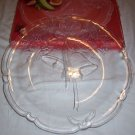 "Mikasa Crystal HOLIDAY BELLS Hostess Glass Platter Christmas tray 14 "" frosted"