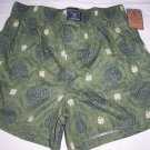 lucky brand boxer shorts 100 % cotton green Small