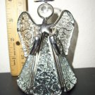 "Collectible Glass & Metal  Angel holding a Star  4"" tall"