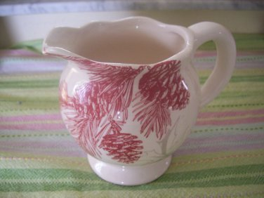 M Magenta exclusives Creamer  gravy bowl Pine Cone Design