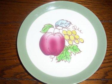 RARE Homer Laughlin Serenade Fruits Apples  grapes Berries Salad Plates OVEN USA