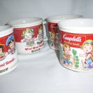 4 Campbells Soup Bowl Mugs Coffee Cup Kids M'm! M'm! Good!  Excellent 1993