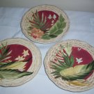 3 Certified International Pamela Gladding Paradise Salad Plates