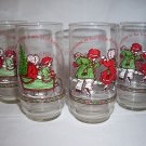 4 HOLLY HOBBIE  Coca Cola Christmas Holiday Tumblers  1977