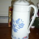 PFALTZGRAFF YORKTOWNE COFFEE POT THERMOS  DISPENSER WITH TOP blue print