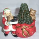 Porcelain  SANTA TEA LIGHT CANDLE HOLDER  VOTIVE