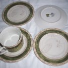 American Atelier  Bouquet Garni Stoneware saucers and coffee cup  AA 5011