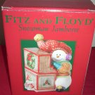 Fitz and Floyd Snowman Jamboree Snowman Playing Piano   Box / Jar
