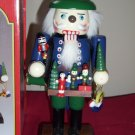 "Deko Wooden Nutcracker   Figure 12"" Christmas Deco w/ Origina Box"