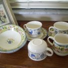 Johnson Bros Tesco Sunny Days Cereal Bowls mugs cups creamer saucers Lot England