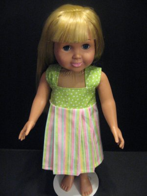 Striped sundress for American Girl