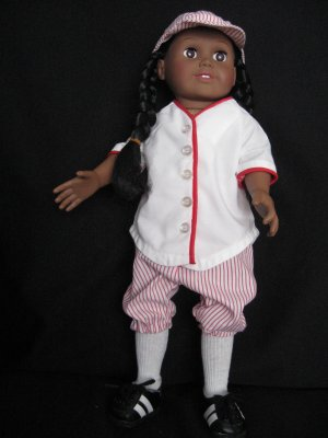 Retro baseball outfit for American Girl