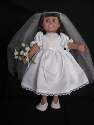 Wedding gown for american girl dolls